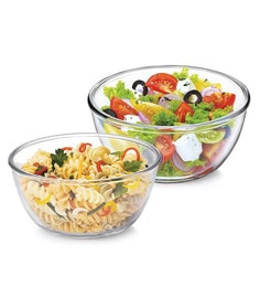 Treo Borosilicate Glass Microwave Safe Mixing Bowls - Set Of 2 - 1662560
