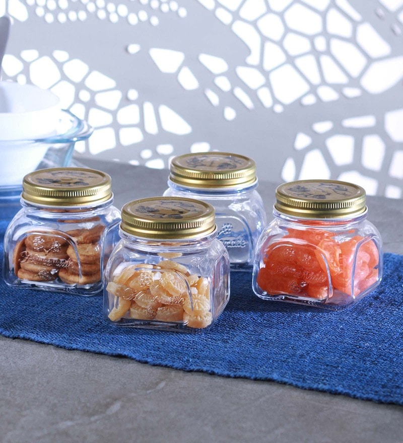 Transparent Homemade Jar with Metal Cover 300 ML - Set of 4 by Pasabahce