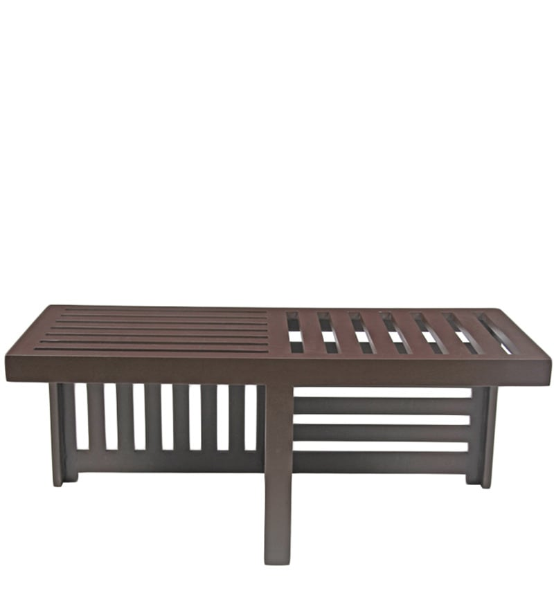 Buy trendy coffee table set with two stools in green lines for Coffee tables trendy