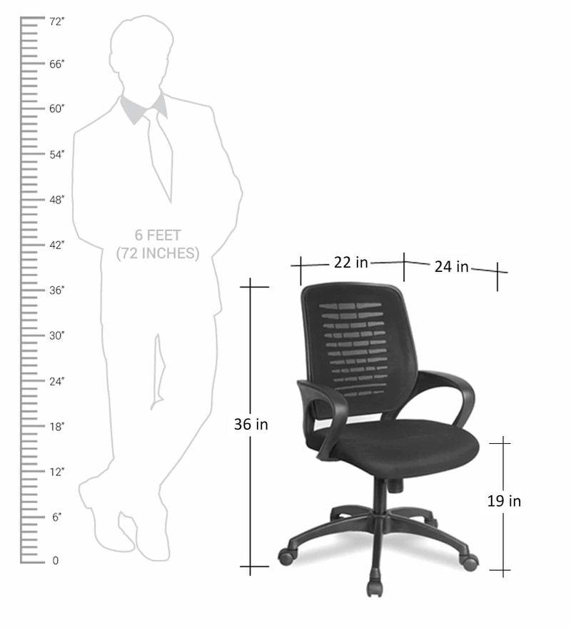 Buy Trendz Ergonomic Chair In Black Colour By Vof Online Ergonomic