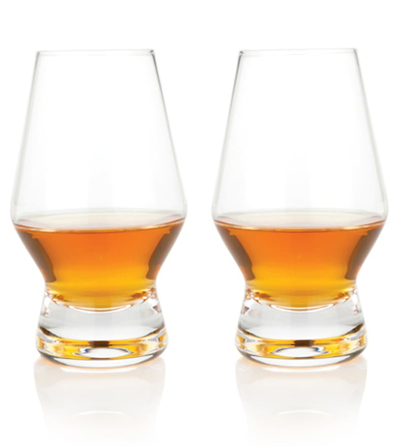 True Viski Raye Crystal Scotch Glasses - Set of 2