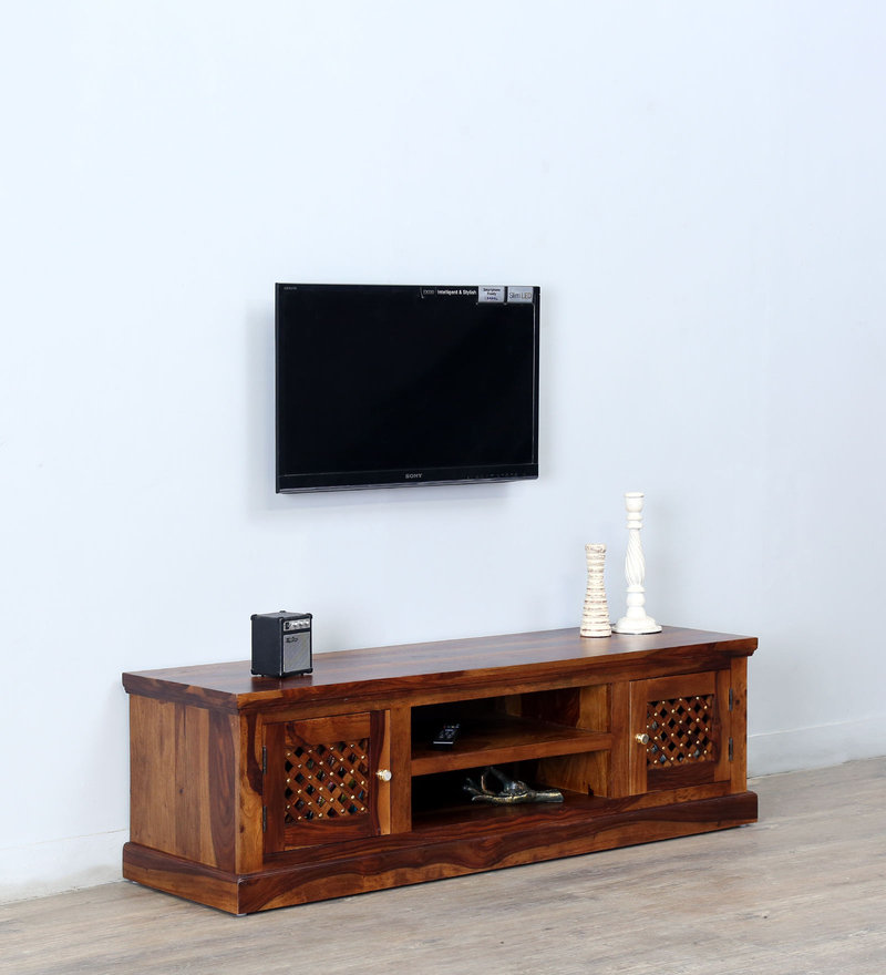 Trydelt Small Entertainment Unit in Provincial Teak Finish by Amberville
