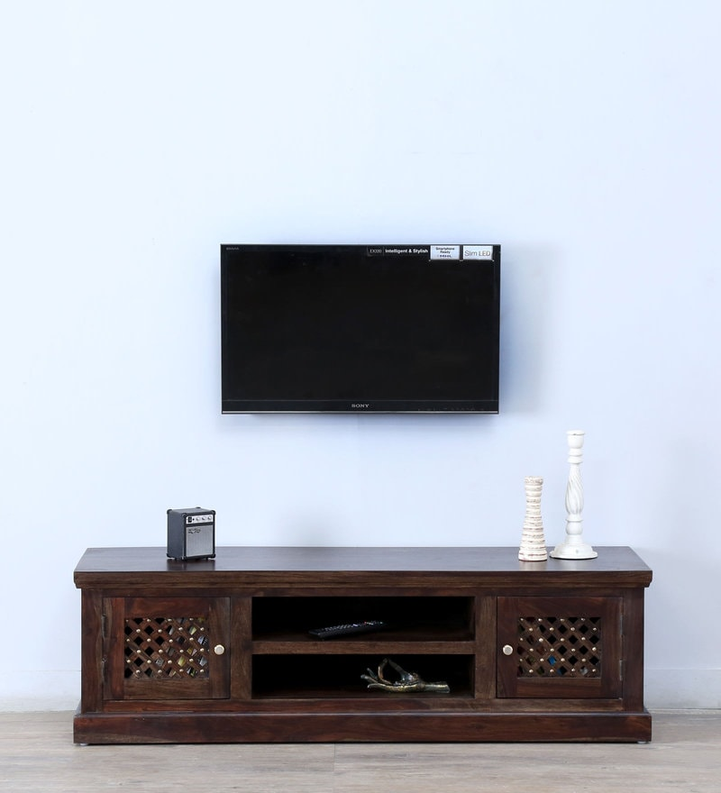 Trydelt Small Entertainment Unit in Warm Chestnut Finish by Amberville