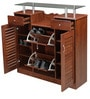 Trio Shoerack in Rosewood Finish by Royal Oak