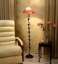 Buy contemporary floor lamps online in india best prices pepperfry red poly cotton floor lamp aloadofball Choice Image