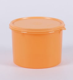 Tupperware Store All Large Airtight Canister Orange Colour - 1800 Ml - Set Of 2