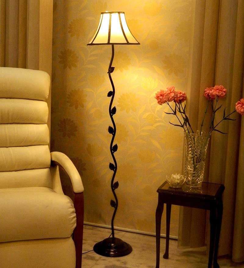 Beige & Black Floor Lamp by Tu Casa