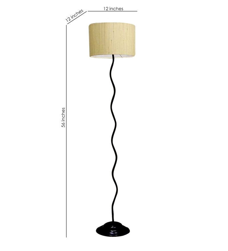 Buy circular shade in black white metal floor lamp by tu casa click to zoom inout mozeypictures Images