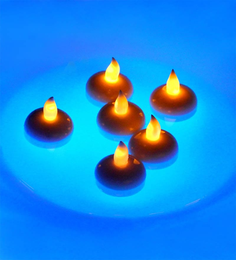 Water Touch Floating LED Candle - Set of 6 by Tu Casa