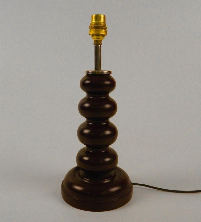 Brown Wood Lamp Base by Tu Casa