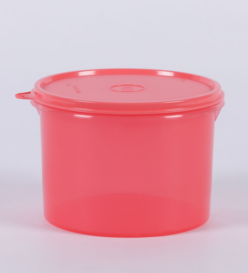 Tupperware Red Plastic 1300 ML Store All Canister - Set of 2