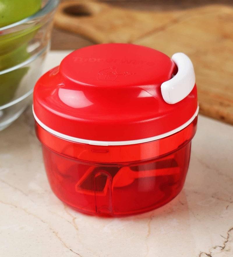 Tupperware Smart Red Plastic Chopper