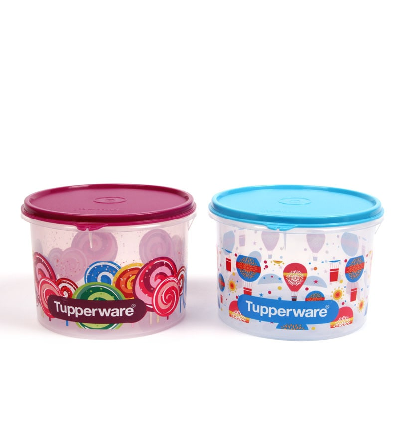 Buy Tupperware Store All Printed Airtight Canister Medium