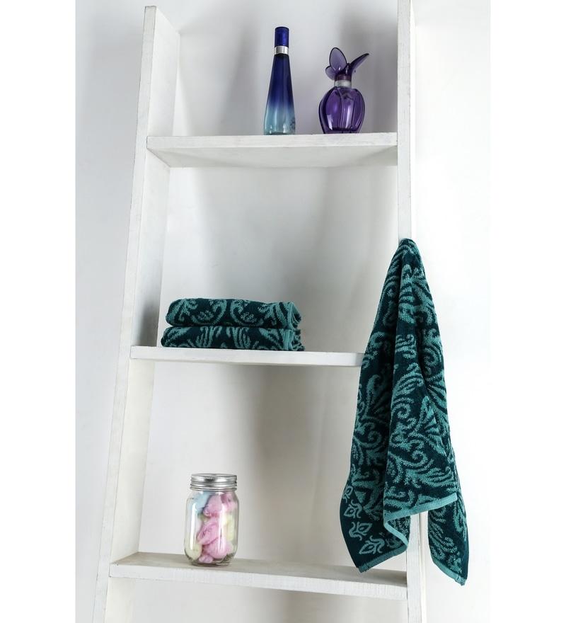 Turkish Bath Green 100% Cotton 15 x 23 Hand Towel - Set of 5
