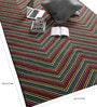 Multicolour Wool 90 x 63 Inch Geometric Carpet by Tulsiram Rugs