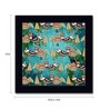 Tungs10 Paper 15 x 15 Inch Birds in the Forest Framed Poster