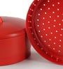 Tupperware Red Plastic 3 L Steam It Steamer