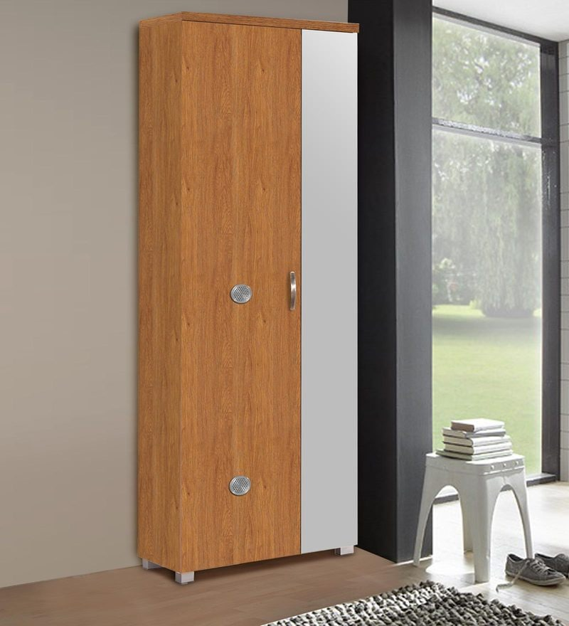 Two Door Shoe Cabinet with Mirror by Marco