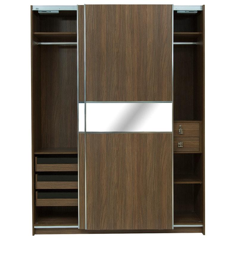 Buy Two Door Sliding Wardrobe With Mirror Panel Amp Soft