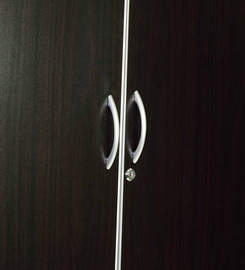 Buy Three Door Wardrobe with Aluminium Frame in Wenge Finish by ...
