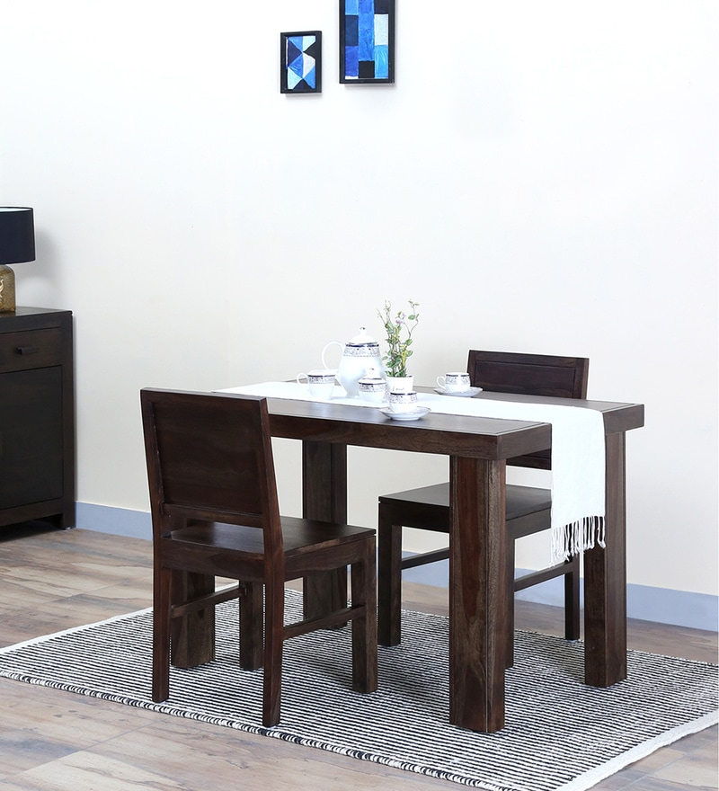 Acropolis Two Seater Dining Set in Warm Chestnut Finish by Woodsworth