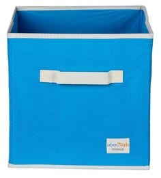 Uberlyfe Cubies Cardboard 20 L Light Blue Storage Box
