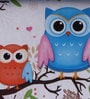 UberLyfe Blue & Pink Foldable Kids Storage and Toy Box - Set of 2 (Design - Owls & Fox)