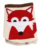 Uberlyfe Cylindrical & Foldable Cum Sack with Red Fox Applique Polyester 8 L Laundry Basket