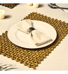 Unravel India Jali Mustard Sabai Grass Placemats - Set Of 2