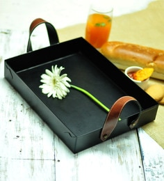 Untold Homes Classic Black Metal Serving Trays