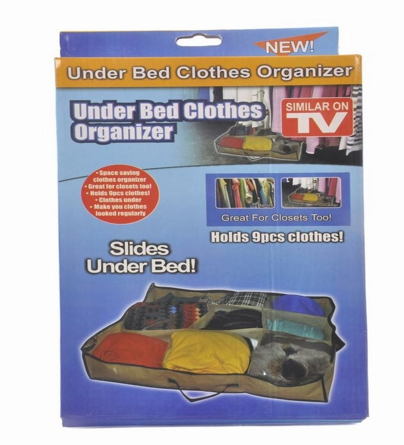 Canvas Under Bed Clothes Organiser by Home Union