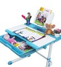 Universal Study Table Set in Blue and White Colour by Alex Daisy