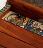Unravel India Madhubani Handpainted Wooden Tray - Set of 2