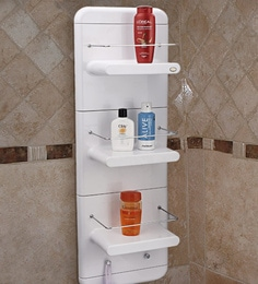 white abs plastic bathroom cabinet