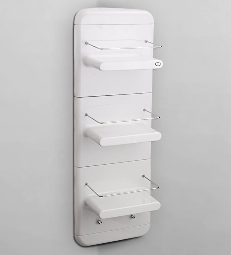 White Abs Plastic Bathroom Cabinet by Upasana