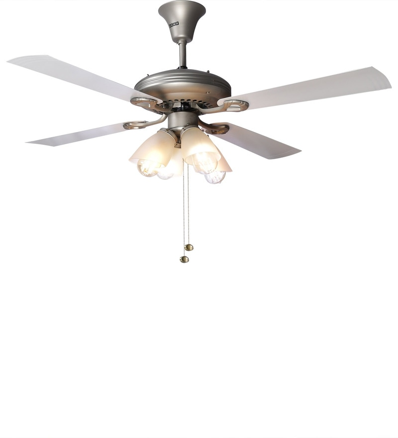 Buy Usha Fontana White Chrome Ceiling Fan With Light Online Ceiling Fans Ceiling Fans