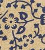 Bell Elephant Batik Print Blue Cotton 90 x 83 Inch Bedsheet by Uttam