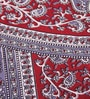 Uttam Indian Ethnic Maroon Cotton 84 x 54 Inch Bedsheet