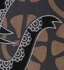 Round Elephant Print Gray Cotton 90 x 83 Inch Bedsheet by Uttam