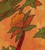 Uttam Tie-Dye Tree of Life Print Brown Cotton 90 x 83 Inch Bedsheet