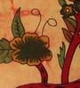 Uttam Tie-Dye Tree of Life Print Orange Cotton 90 x 83 Inch Bedsheet