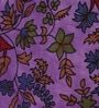Uttam Tie-Dye Young Tree Floral Print Purple 90 x 83 Inch Bedsheet