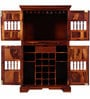 Asava Large Bar Cabinet in Honey Oak Finish by Mudramark