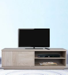 Va Piano Multipurpose TV Unit In Oak Grey Finish By Alsapan
