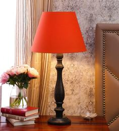 Table lamps buy table lamps online in india at best prices orange cotton table lamp aloadofball Choice Image