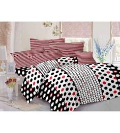 Valtellina White 100% Cotton Queen Size Zeba Bed Sheet - Set Of 3