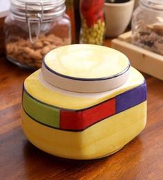 VarEesha Hand Made Ceramic Rectangular Multipurpose Jar - 1634267