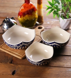 VarEesha Mughal Ceramic Serving Bowls - Set Of 3