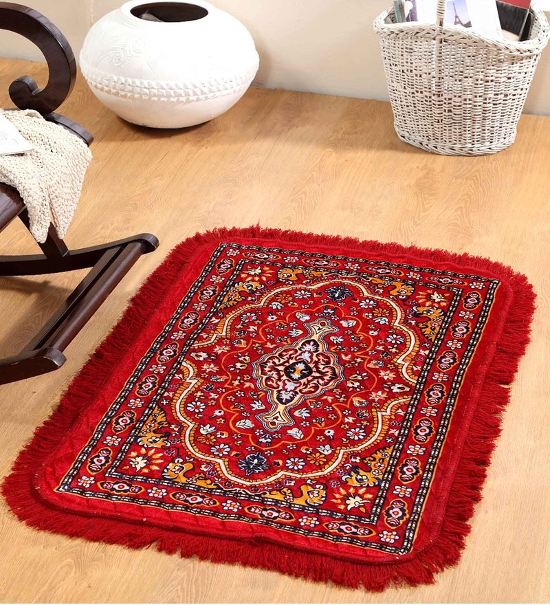 Multicolour Polyester 46 x 33 Inch Traditional Prayer Mat by Valtellina
