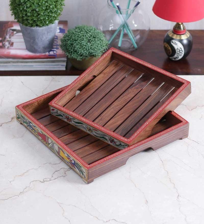 Vareesha Handcrafted Warli Serving Tray